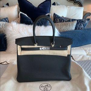 Hermès Birkin 35 Togo Leather Noir 89 Black 8410